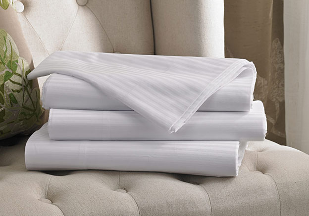 White Stripe Flat Sheet