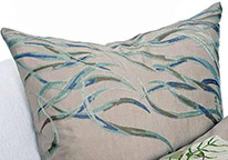 Blue Wind Throw Pillow