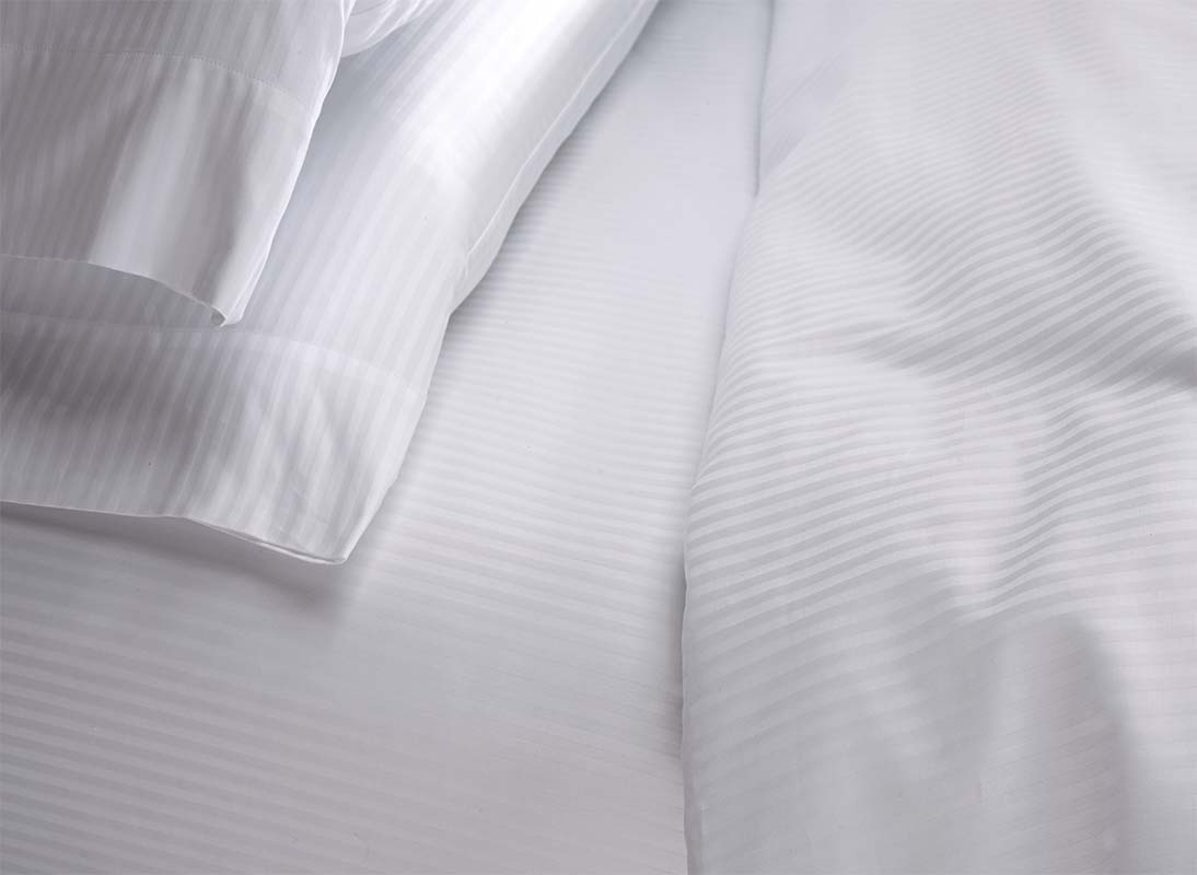 White Stripe Fitted Sheet Westin Hotel Store